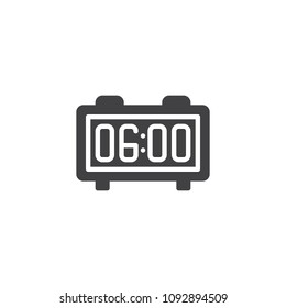 Digital alarm clock vector icon. filled flat sign for mobile concept and web design. Alarm Radio Clock simple solid icon. Symbol, logo illustration. Pixel perfect vector graphics