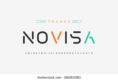 Digital alphabet fonts. Typography for a technology theme, poster, banner. Vector element or template - Shutterstock ID 1865815081