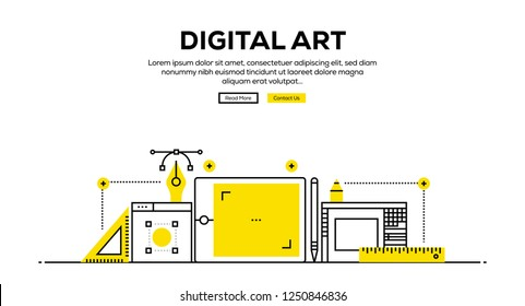 DIGITAL ART INFOGRAPHIC CONCEPT