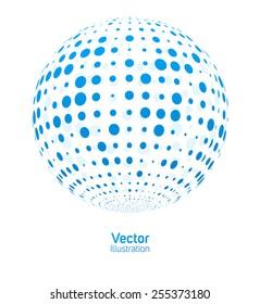 Digital ball. Vector illustration.