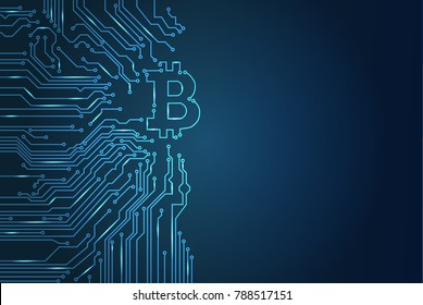 digital bitcoin crypto currency vector background. Bitcoin vector illustration background