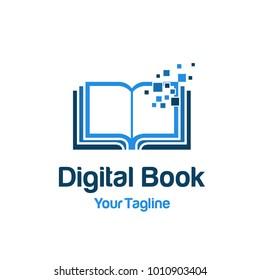 Digital Book logo template