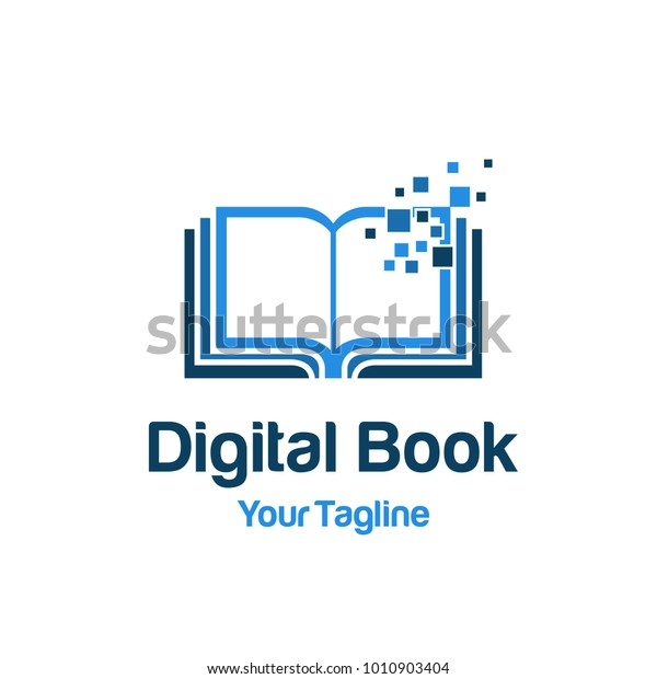 Digital Book Logo Template Royalty Free Stock Image