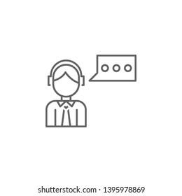 Digital business, customer service icon. Element of digital business icon. Thin line icon for website design and development, app development. Premium icon