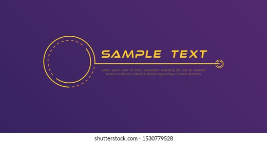 Digital callouts titles. Set of HUD futuristic sci fi frame template. Layout element for web, brochure,  infographics. Modern banners of lower third for presentation isolated on yellow. Vector