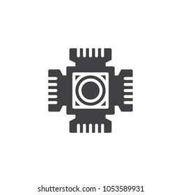 Digital camera cmos chip vector icon. filled flat sign for mobile concept and web design. CMOS ccd sensor simple solid icon. Symbol, logo illustration. Pixel perfect vector graphics