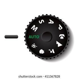 digital camera mode button vector illustrations