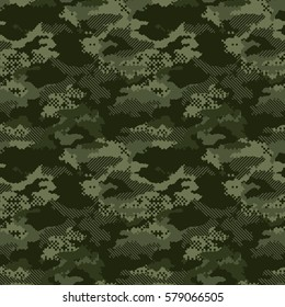 digital camouflage seamless patterns. Modern fashion vector trendy camo pattern.