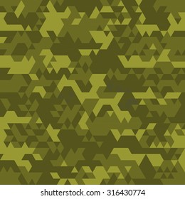 Digital camouflage seamless patterns - vector set triangles.