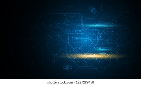 digital circuit line pattern technology background eps 10 vector