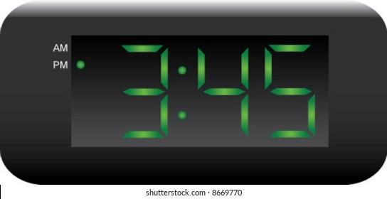 digital wall clock images stock photos vectors shutterstock rh shutterstock com digital alarm clock clipart digital clock clipart free
