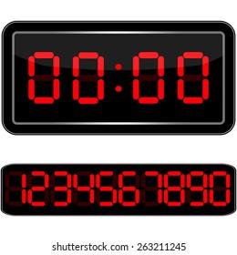 Digital Clock . Digital  illustration