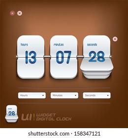 Digital Clock Illustration, Sign, Buttons, Symbol, Emblem, Logo for Web Design, User Interface, Mobile Phone, Baby, Children, People