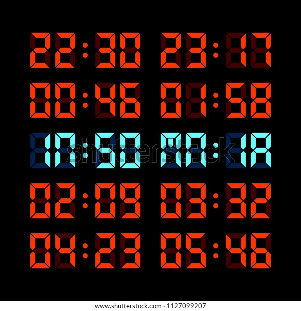 Digital Clock Insomnia Concept. EPS8 Vector