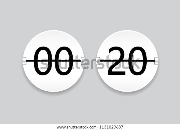 Digital Clock Isolated On Gray Background Stock Vector