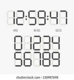Digital clock & number set