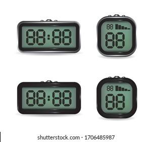 Digital clock and stopwatch illustration