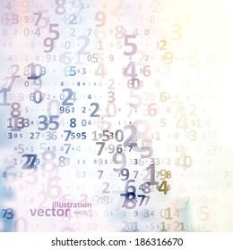 Digital code background, abstract vector illustration eps10
