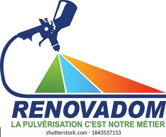 digital Color sprayer unique logo