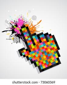 Digital colored hand