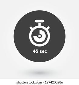 Digital Countdown Timer Vector Roundel. Modern Stopwatch Analog or Digital Timer Icon.