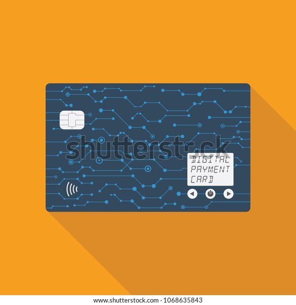 Care One Credit Card >> Digital Credit Card All One Credit Stock Vector Royalty