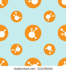 Digital crypto currency BitConnect BCC market symbol or logo. Repeating flat background pattern. Design for wrapping paper or greeting card.