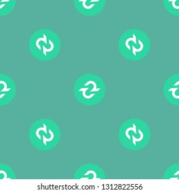 Digital crypto currency Decred DCR market symbol or logo. Repeating flat background pattern. Design for wrapping paper or greeting card.
