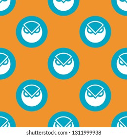 Digital crypto currency Gnosis_GNO market symbol or logo. Repeating flat background pattern. Design for wrapping paper or greeting card.