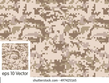 Digital Desert Camouflage pattern vector