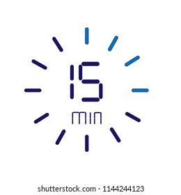 Digital dial with 15 minutes