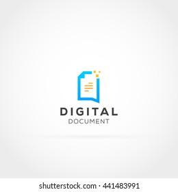 Digital Document Logo Icon