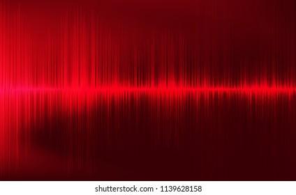 Digital Earthquake Wave on Dark Red background,Sound wave diagram concept,design for education and science,Vector Illustration.