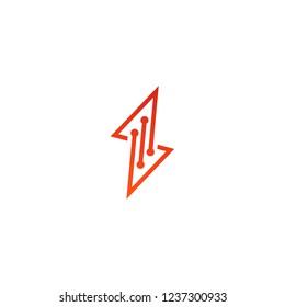 digital energy logo vector icon
