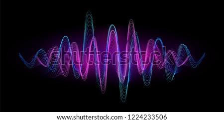 Digital equalizer sound wave