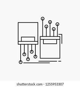digital, fiber, electronic, lane, cable Line Icon. Vector isolated illustration