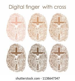 Digital finger with cross