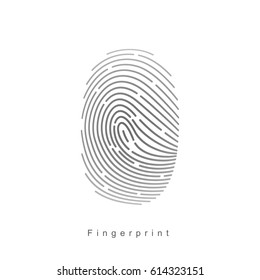 Digital fingerprint. Vector illustration