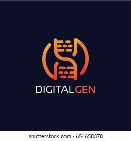 Digital Gen Logo Template Design