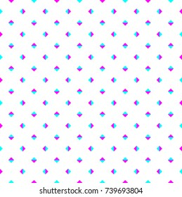 Digital glitch cyan and magenta triangle graphic art.Optical illusion.Triangle pattern background