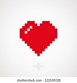 Digital heart abstract background. Vector illustration