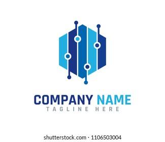 Digital Hexa Logo Design