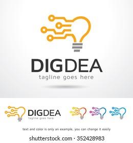 Digital Idea Logo Template Design Vector