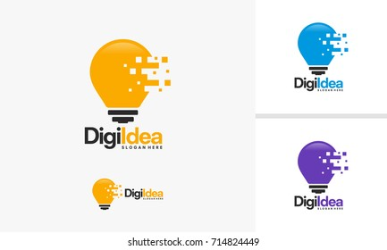 Digital Idea logo template, Digital Inspiration logo designs vector