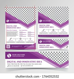Digital and innovative idea flyer, social media, and banner templates