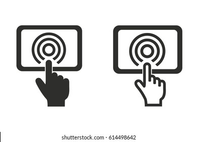 Digital interaction vector icon. Illustration isolated for graphic and web design.