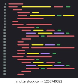 Digital java code text. Computer software coding vector concept. Programming coding script java, digital program code on screen illustration. Vector stock illustration.