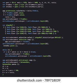 Digital java code text. Computer software coding vector concept. Programming coding script java, digital program code on screen illustration