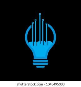 digital lamp light logo