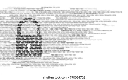 Digital lock guard sign binary code number. Big data personal information safety technology. White monochrome glowing abstract web internet electronic payment vector illustration